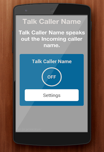 Automatic Callers Name Speaker
