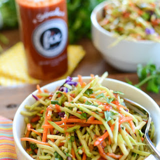 Spicy Sriracha Broccoli Slaw