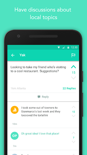 Yik Yak screenshot