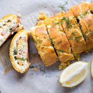 Gluten Free & Keto Smoked Salmon & Ricotta Pastry Roll-Up 🍥.
