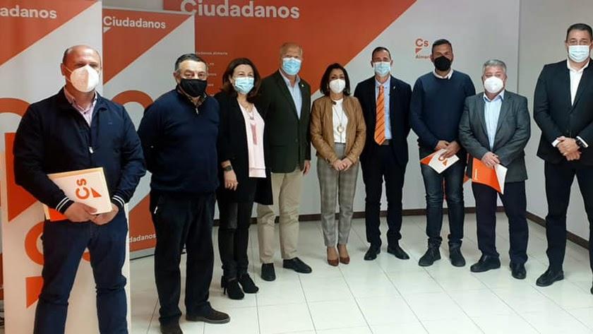 Fotografía tras la reunión con Javier Imbroda.