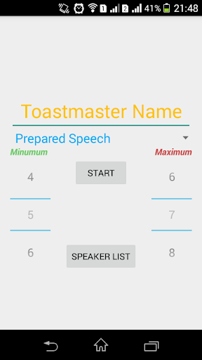 ToastMasters Timer