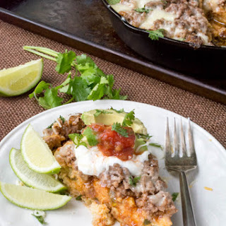 Low Carb Mexican Tamale Skillet Pie (Gluten Free, Grain Free).