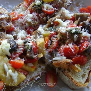 Veggie & Sausage Crustini