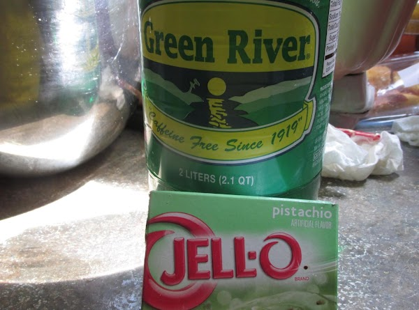 Add flour in 3 increments, about 1/3 at a time alternating with green river...