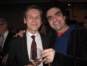 Photo: Wiener Volksoper. Premierenfeier nach VIVA LA MAMMA am 17.1.2015. Kanzleramtsminister Dr. Ostermayer, Rolando Villazon. Foto: Peter Skorepa