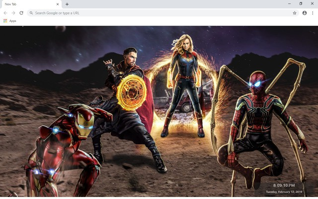 Avengers 4 End Game New Tab