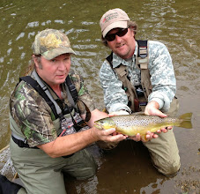Photo: Brian Flechsig guiding Steve Buckley on the Mad River in Ohio- May 2013