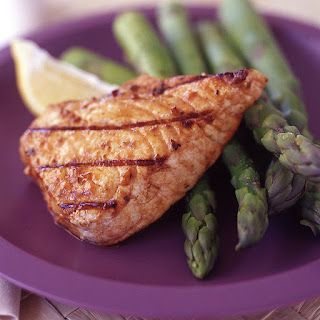 Grilled Swordfish with Seasoned Asparagus.