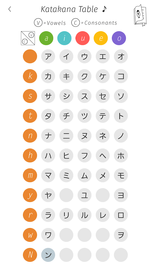 Katakana Memory Hint [English]- screenshot