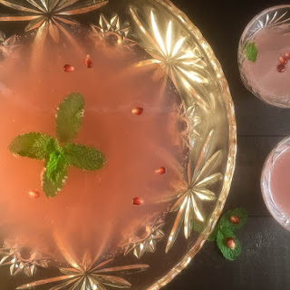 Sparkling Pomegranate Mint Party Punch.