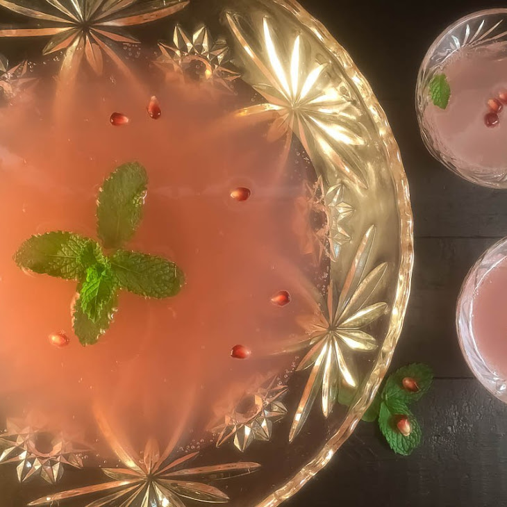 Sparkling Pomegranate Mint Party Punch