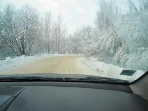 Photo: la route vers Aleko est bien dégagée