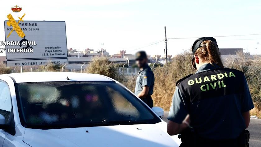 Control de la Guardia Civil