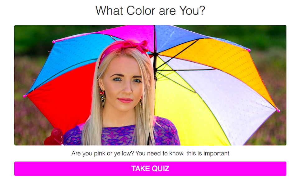 How To Make A Color Personality Test