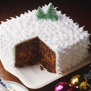 Traditional British Christmas Cake.