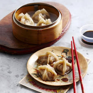 Steamed Chicken, Shiitake and Water Chestnut Dumplings.