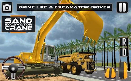 Sand-Excavator-Crane-Sim 3
