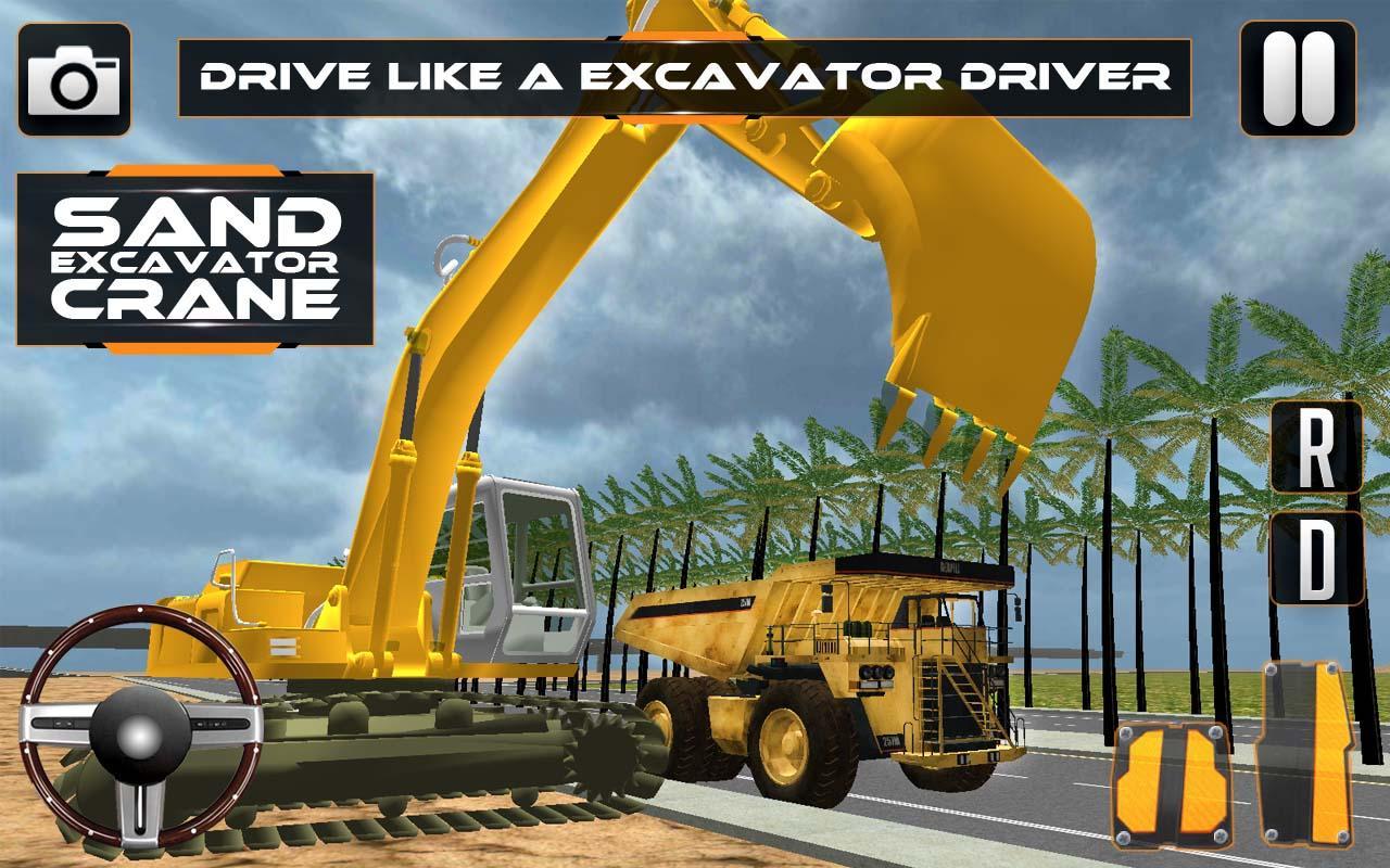 Sand-Excavator-Crane-Sim 15