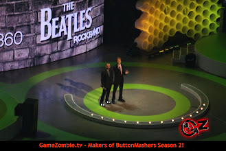 Photo: Paul and Ringo promoting The Beatles Rockband