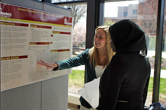 Photo: More than 50 research projects and presentations involving more than 100 students within the College of Liberal Arts were on display, performed and presented at the end of the spring semester during its Research and Creative Projects Day.  Photos by Rachael Scicchitano '15, communication studies. http://bloomu.edu/cola