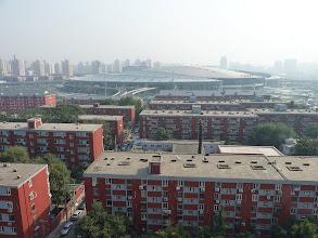 Photo: Beijing - view from Damian's photo studio at huge Beijing South railway station through beautiful clean Beijing air, photo taken 110924