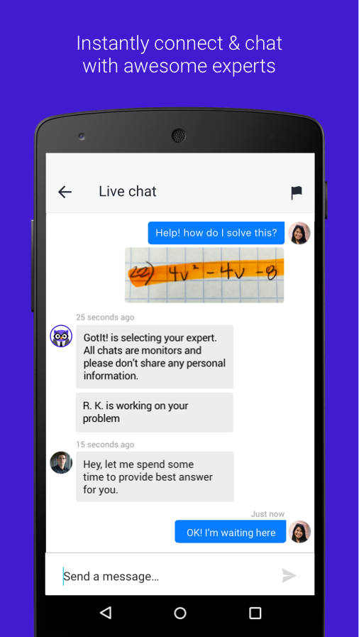 live chat homework help