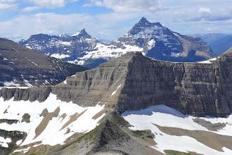 Photo: View of Triple Divide Peak below as I made my way up Mt. James.