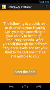 Hearing Age Evaluator- screenshot thumbnail