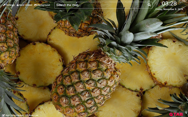 Pineapple Wallpaper for New Tab