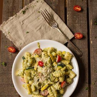 Creamy Pesto Gnocchi with Seasonal Vegetables