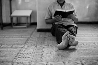 Photo: reading on floor  this image is continue of the series of photographs taken during in Jisr az-Zarqa - the Arab town in Israel that is located almost in the middle of country I visited this small town with the group of another Israel's photographers with idea to document the life of the people of this town I have a lots of images to continue this album, just ste by step - frame by frame.  to browse this album - simple click on this image and manage your move with left<-->right arrows !  #streetphotography   #streettogs     #monochrome     #blackandwhite     #jisrazzarqa