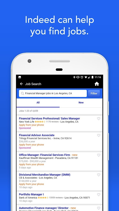 Screenshots of Indeed Job Search for iPhone