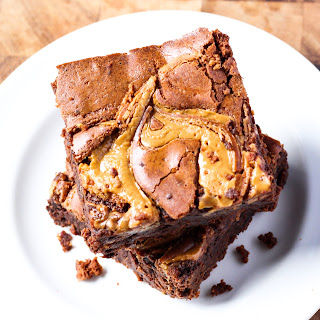 Chocolate Chip Peanut Butter Swirl Brownies