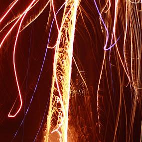 Trails of Fire by Nikki Hemrich - Abstract Fire & Fireworks