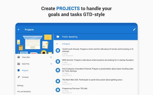 Chaos Control: GTD Organizer & Task List Manager screenshots apkspray 10