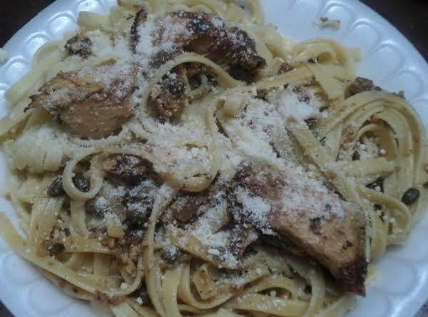 Lucky Lemon Chicken Pasta W/ Garlic And Capers Recipe