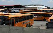 Putco busses at a depot in Industria West, Johannesburg.