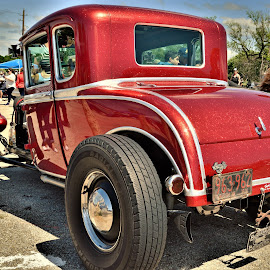 Large Flake by Benito Flores Jr - Transportation Automobiles ( red, cra, austin, custom, travis expo, glitter, texas, car show, lone star round up )