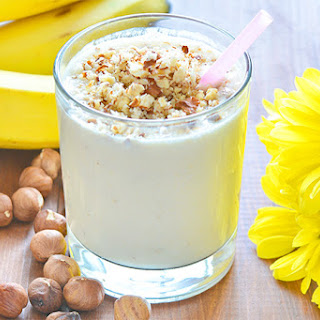 Hazelnut Banana Yogurt Smoothie.