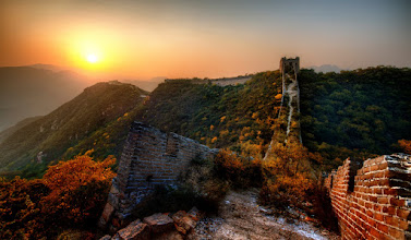 """Photo: The Remote Mountainous Great Wall of China - Behind the scenes video tomorrow for Google+ friends !  I've just finished editing together the video I shot while here… it's not super-high quality, since I just did it with my iPod, but you can at least see my setup, some of the vegetation, and a few other things.  This particular part of the wall had gaping wounds that have fallen apart after the last few thousand years. It took a bit of extra focus, since falling off the wall would have both been deadly and embarrassing.  (Note I didn't originally have """"of China"""" in the title, but I added it when many people below asked if it was the Great Wall of China)  #SICInDatabase"""