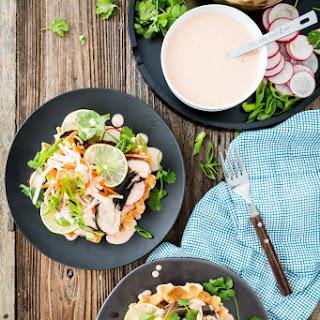 Portobello Banh-Mi Waffles