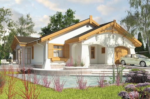 projekt Anielka II z garażem 1-st. A