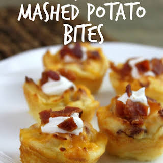 Loaded Mashed Potatoes Appetizer Bites.
