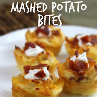 Loaded Mashed Potatoes Appetizer Bites.
