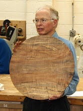 Photo: Phil Brown - figured red maple platter blank