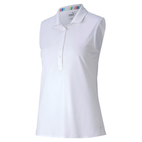 Puma Golf Rotation Sleeveless Polo White