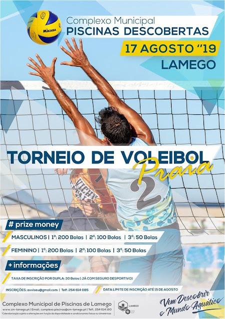Piscinas de Lamego recebem voleibol de praia dia 17