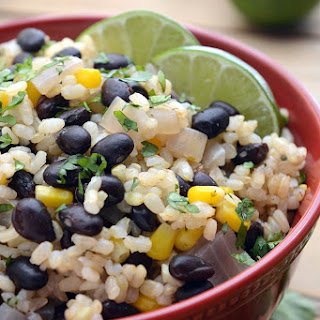 30 Minute Black Beans and Lime Rice.