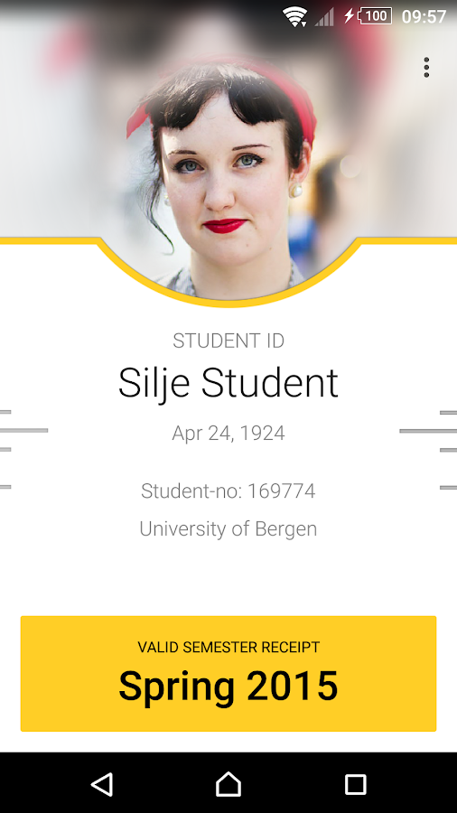 Student ID- screenshot